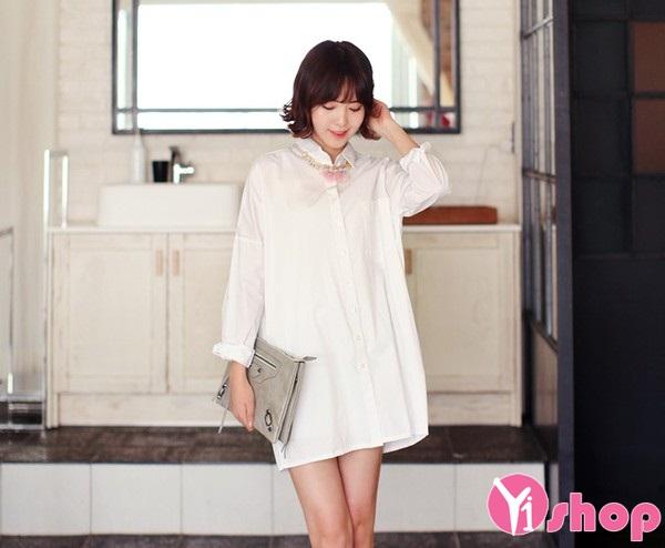 Hãy để áo sơ mi trắng giúp bạn đẹp nao lòng!