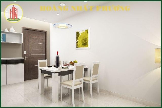 Thiết kế theo phong cách hiện đại với tông màu đen và trắng