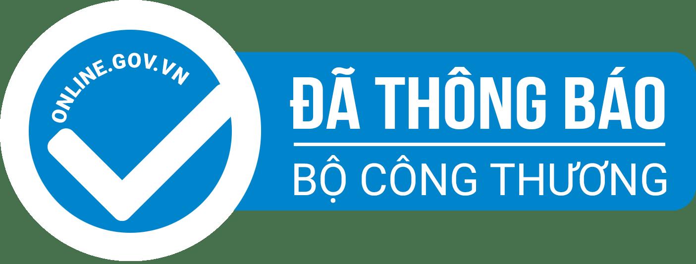 Logo thông báo đã đăng ký website với bộ công thương