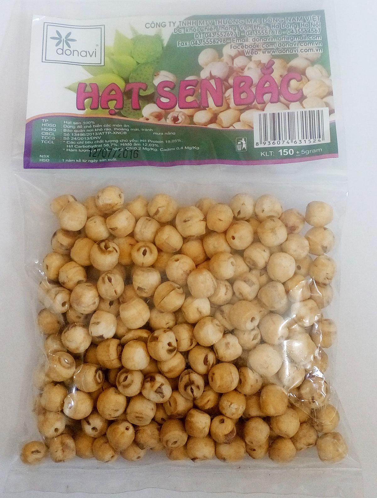 hạt sen khô bao nhiêu tiền 1kg