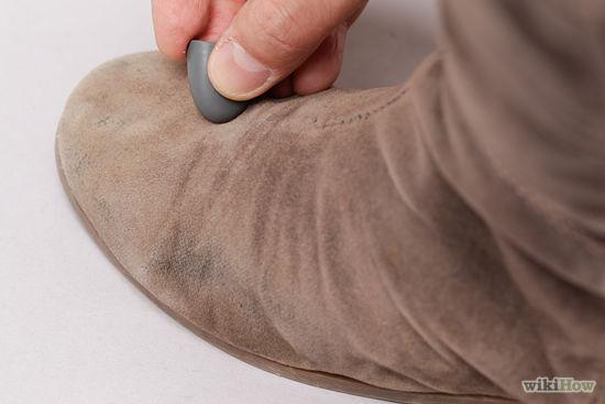 cách làm sạch giày da lộn 3