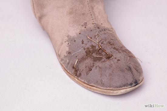 cách làm sạch giày da lộn 6