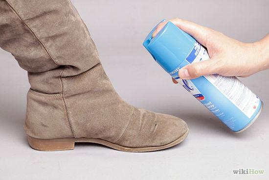 cách làm sạch giày da lộn 7