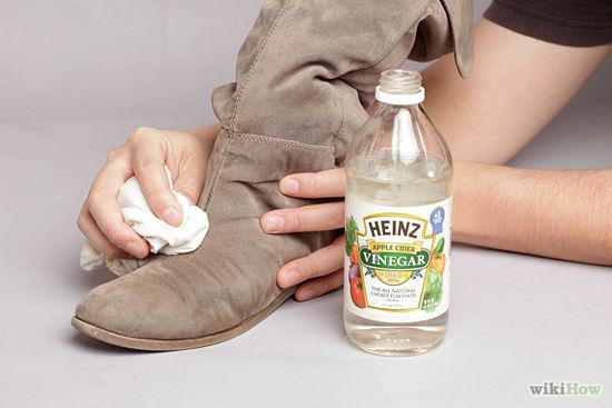 cách làm sạch giày da lộn 8
