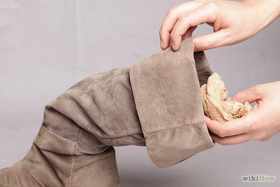 cách làm sạch giày da lộn 11