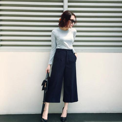 Quần culottes mặc với áo gì hợp mốt nhất 1