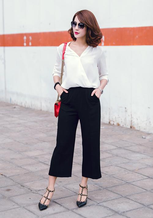 Quần culottes mặc với áo gì hợp mốt nhất 13