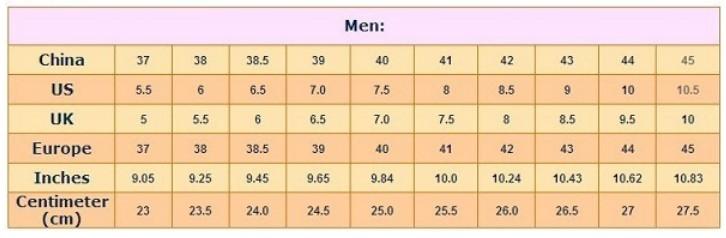 cách đo size giày quảng châu cho nam