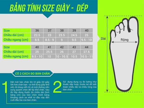 cách đo size giày quảng châu