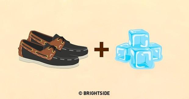 Sử dụng nước để nới rộng giày