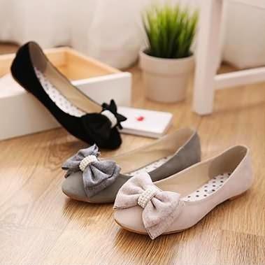 Giày Búp Bê Gắn Nơ Xinh Đẹp