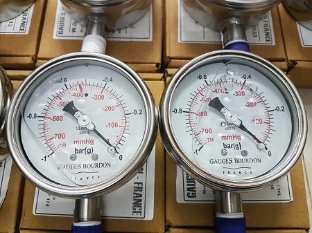 đồng hồ cơ đo áp suất chân không