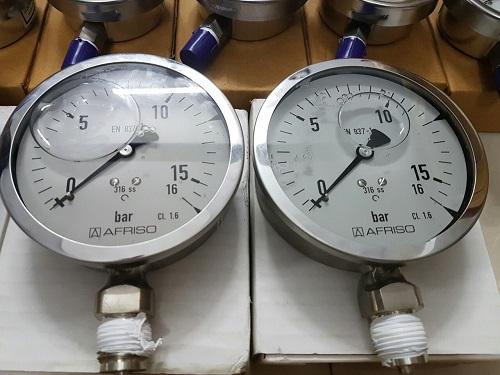 đồng hồ áp suất dầu 0 - 16 bar