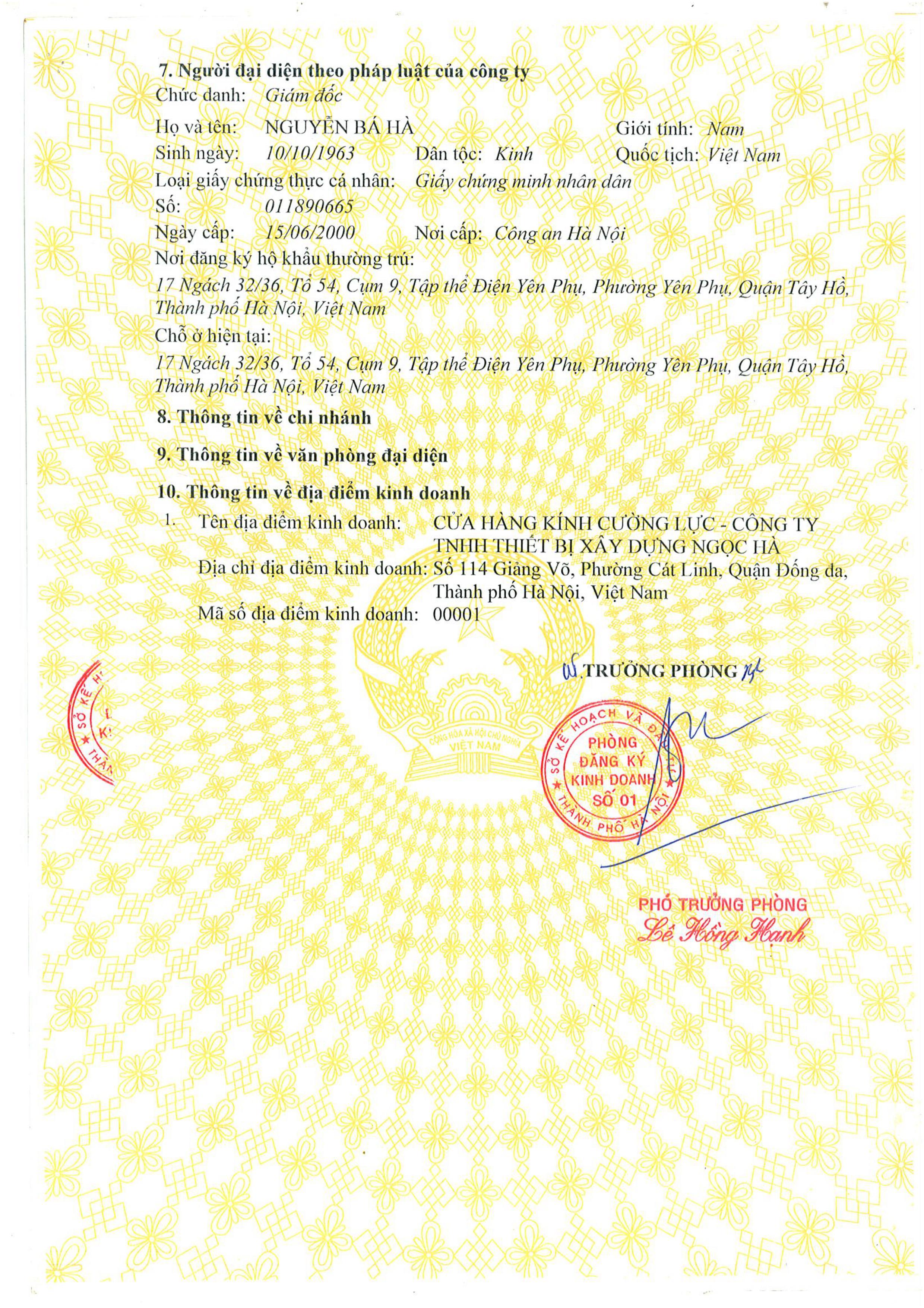 giấy đăng ký kinh doanh 3