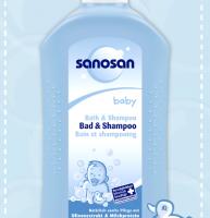 Sữa tắm cho bé sơ sinh làm sạch cho bé Sanosan