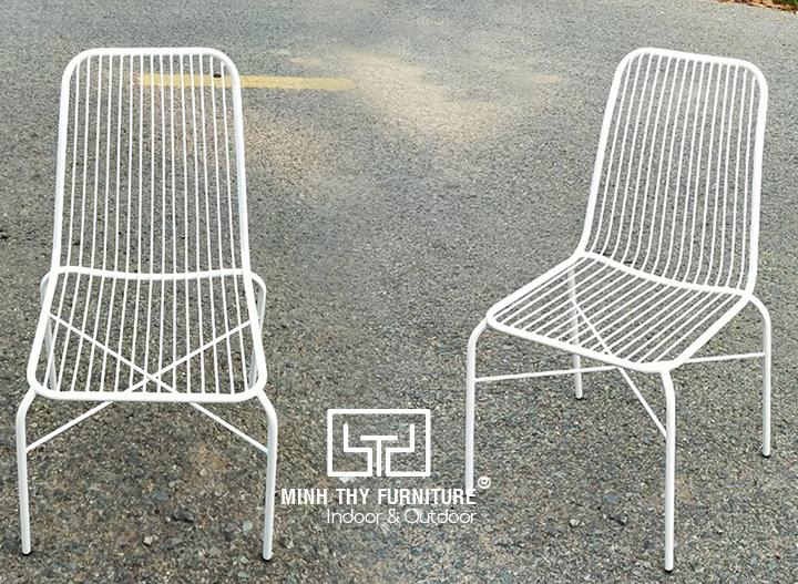 Bàn ghế sắt cafe ngoài trời BGS4003 tại xưởng cơ khí Minh Thy Furniture