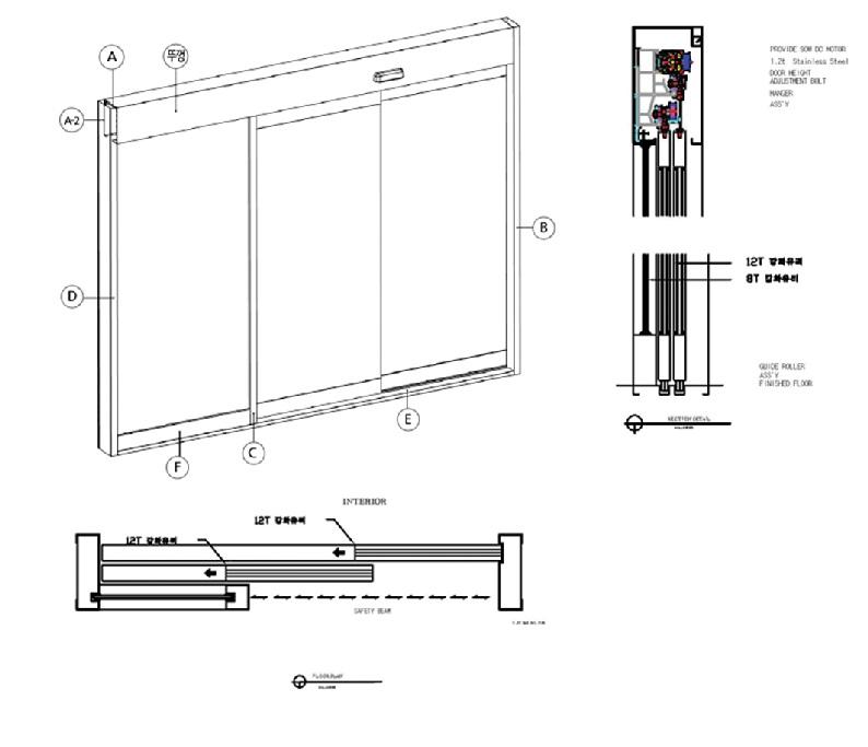 cửa trượt tự động đơn 2 cánh - hình ảnh 1