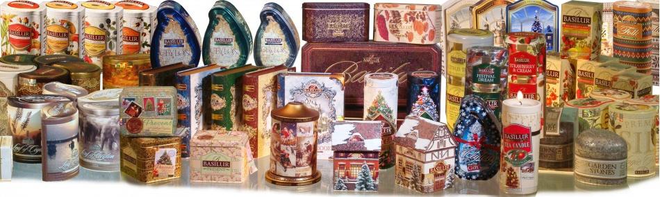 Các sản phẩm trà basilur