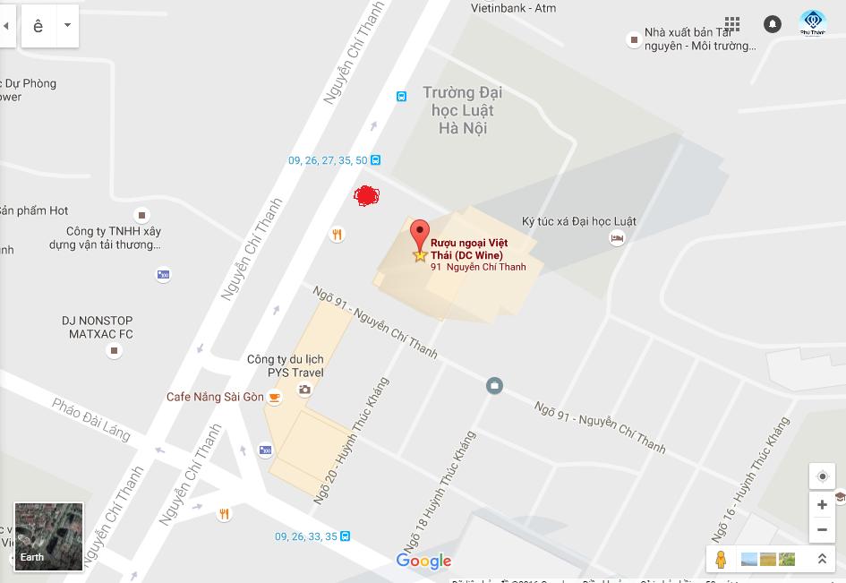 bản đồ shop rượu ngoại Việt Thái