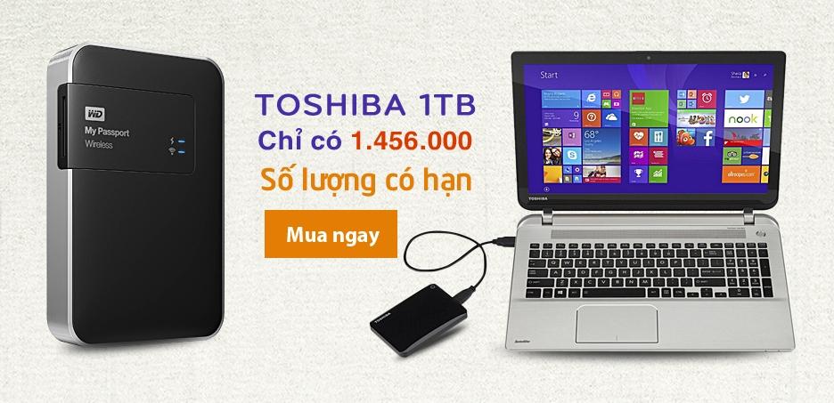 Toshiba 1TB Chỉ 1.456.000đ