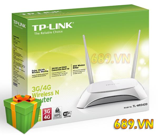 TPlink MR3420 Bộ Phát WiFi Trên Oto Khách Xe Hơi Con