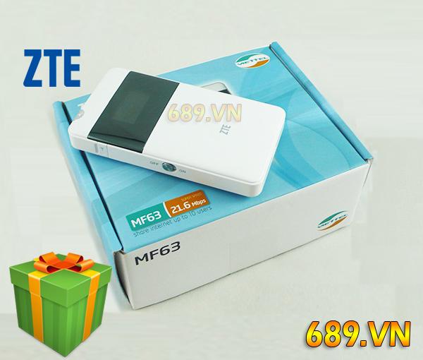 Bộ Phát WiFi 3G Từ Sim ZTE MF63