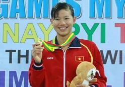 Ánh Viên Phá kỷ lục Sea Games 28 200m bơi ngửa nữ 2015