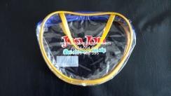 Túi PVC hình tim trong suốt dây kéo vải có quai