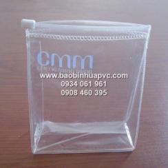 Túi PVC trong suốt đáy nở có dây kéo nhựa