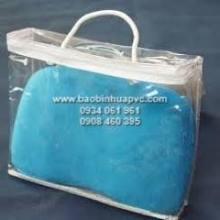Túi PVC trong suốt dây kéo vải có quai