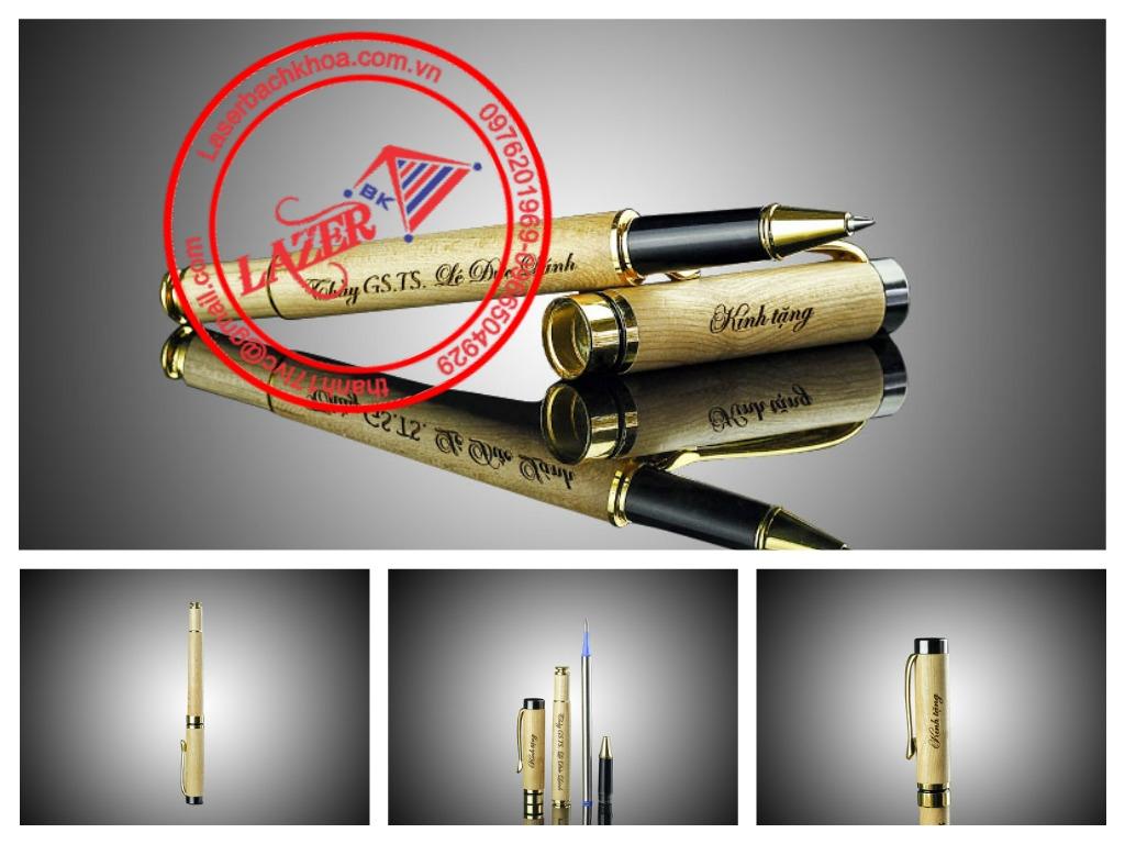 Bút gỗ khắc laser theo yêu cầu