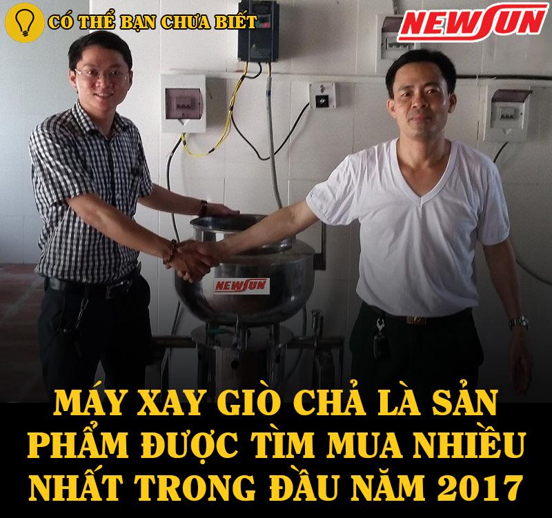 ban co biet may xay gio cha Newsun la dong san pham ban chay nhat nam 2017
