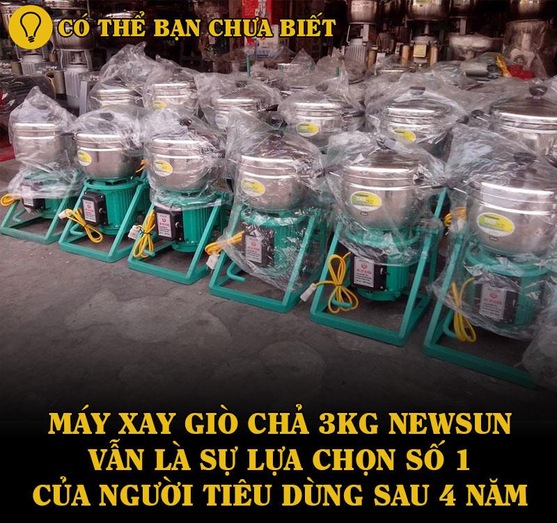 máy xay giò chả gia đình 3kg NEWSUN là sự lựa chọn số 1 của người tiêu dùng?