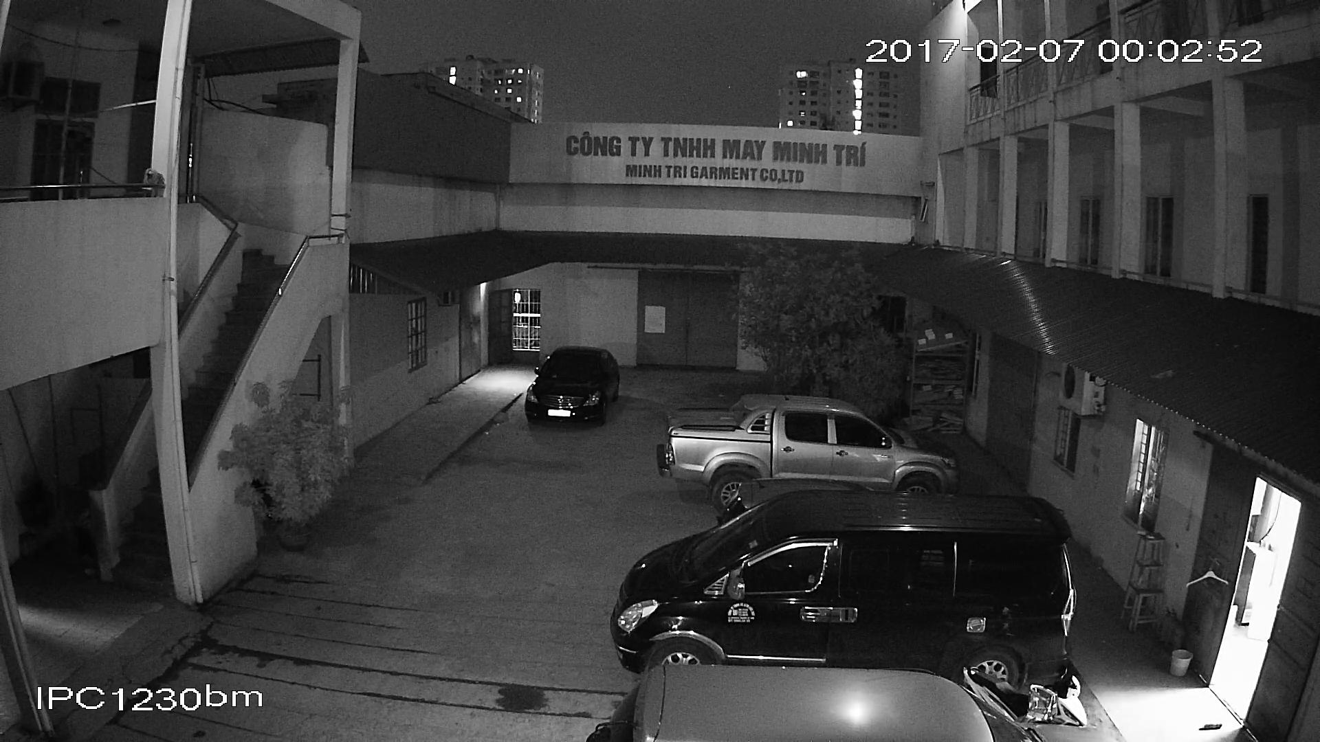 Hình ảnh ban đêm của camera BEN - CVI1230BM