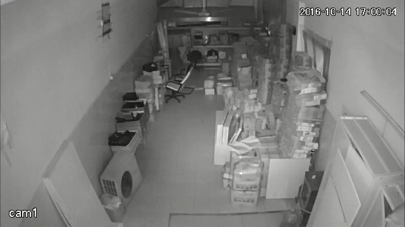 Hình ảnh test thực tế ban đêm của camera