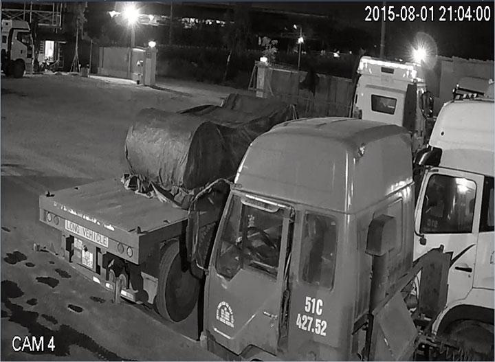 Hình ảnh thực tế ban đêm của camera BEN - CVI1220BM