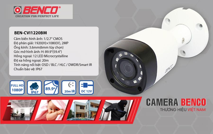 Thông số kỹ thuật của camera BEN - CVI1220BM