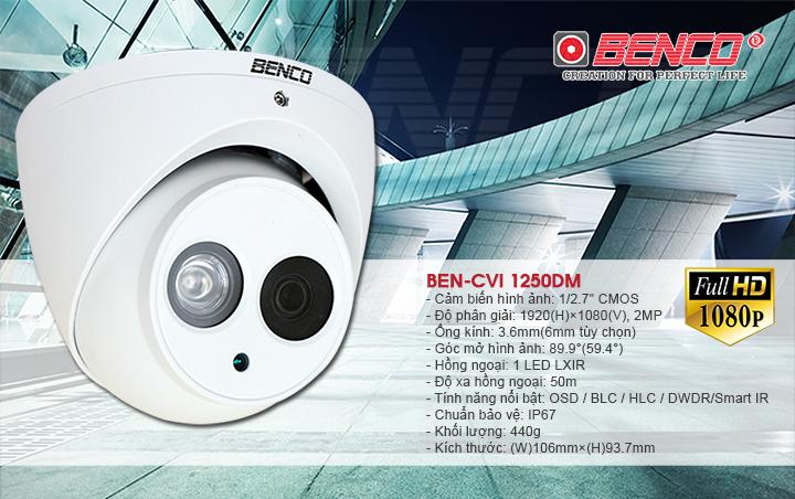 Thông số kỹ thuật của camera BEN - CVI1250DM