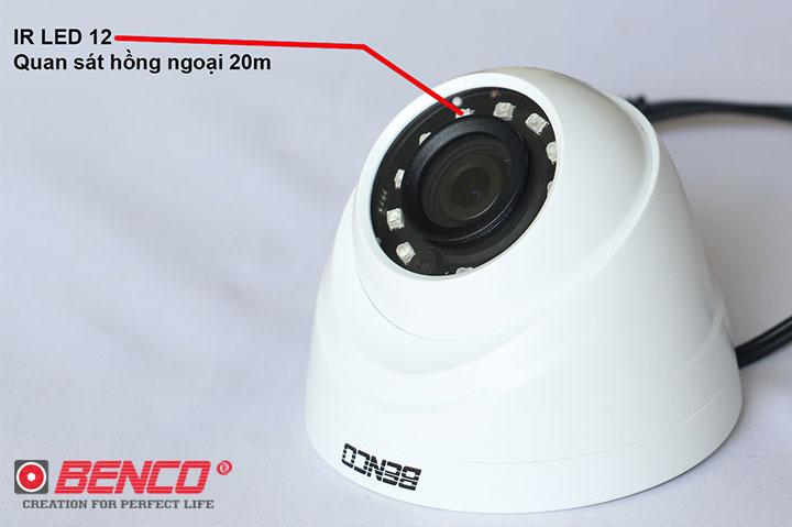 Camera trang bị 12 đèn LED Micro công nghệ cao