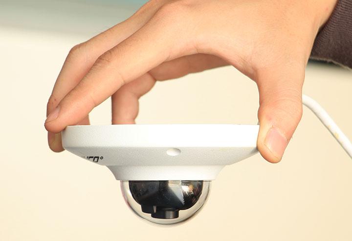 Camera thiết kế dạng vòm đẹp mắt