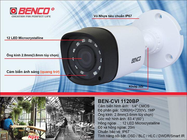 Thông số kỹ thuật camera BEN - CVI1120BP