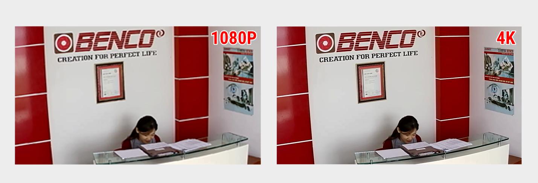 Hình ảnh Demo Camera Benco 4K – Văn phòng Benco Việt Nam