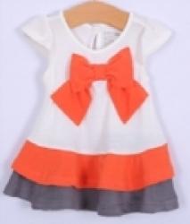 Áo váy thun cộc tay Gap ngực nơ XK