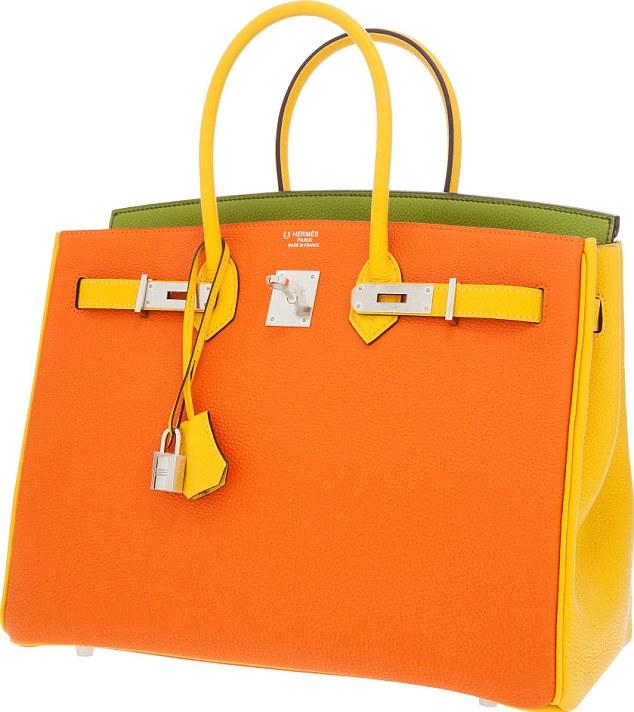 Túi Hermes Birkin F1 màu cam pha