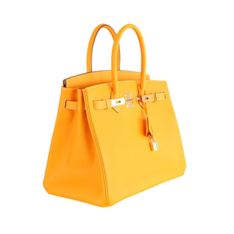 Túi xách F1 HM Birkin màu cam size 30