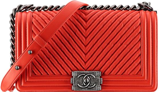 Túi xách Chanel Boy Fake 1 màu đỏ
