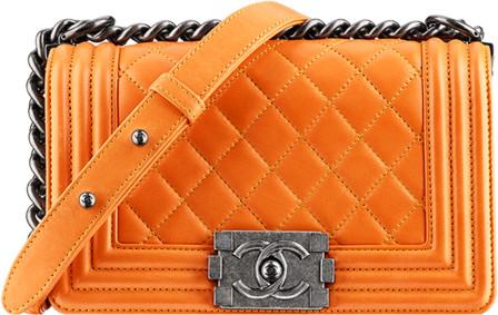Túi xách F1 Chanel Boy màu cam