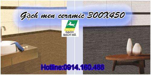 Gạch men Bạch mã WHITE HORSE 300x450 giá rẻ TPHCM 0914160488