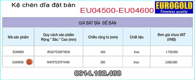 Kệ chén dĩa đặt bàn EUROGOLD-EU04600
