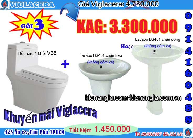 Khuyến mãi bồn cầu VIGLACERA 2017 V35 kiến an gia 0914160488